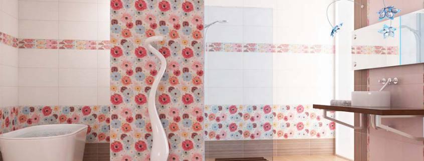 ремонт ванной комнаты на фото в розом цвете