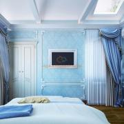 Голубая спальня в классическом стиле
