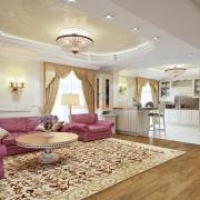 Гостиная студио в классическом стиле
