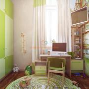 Детская комната в нежных салатовых оттенках