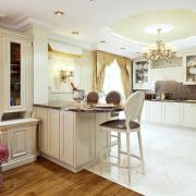 Кухня белая с золотом Киев