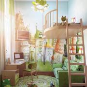 Рисунки на стене в детской