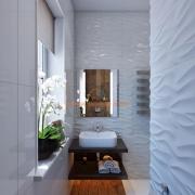 Туалетная комната с окном в белом цвете