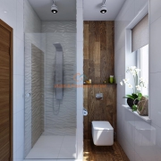 Санузел с душем и окном