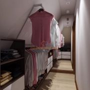 Гардеробная комната в мансарде