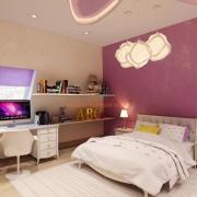 Дизайн детской сиренево-розовый