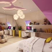 Интерьер детской в розовом цвете