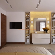 Спальня в бежево-желтой гамме