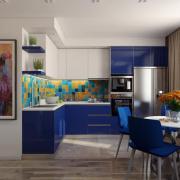 Синяя кухня на заказ Киев