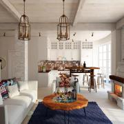 Дизайн гостиной в стиле лофт,