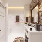 Дизайн интерьера ванной в белом цвете