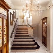 Дизайн лестницы в частном доме. Бровары