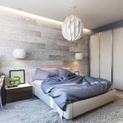 Дизайн спальни в бело-серых тонах
