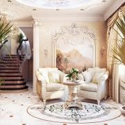 Изысканный дизайн холла. Бровары