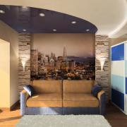Комната для подростка в сине-белых тонах
