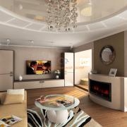Натуральные цвета в интерьере гостиной