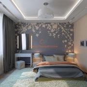 Растительные принты в спальне