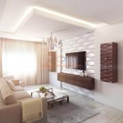 Светлая просторная гостиная