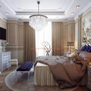 Спальня в кофейных тонах