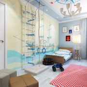 Тематический интерьер детской комнаты