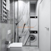 Шкаф для стиральной машины и сушки в ванной