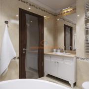 Встроенный умывальник в ванной комнате