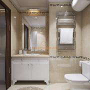Горизонтальный бойлер в интерьере ванной