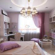 Детская комната в розовой гамме