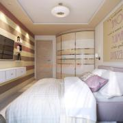 Дизайн интерьера спальни, ул.Смилянская, Киев
