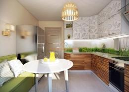 Дизайн кухни с экомотивами