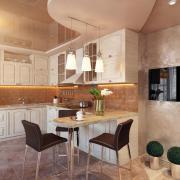 Зональное освещение в кухне