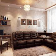 Классическая гостиная в коричневом цвете