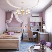 Кровать в детской с балдахином