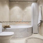 Угловая ванна с мозаикой