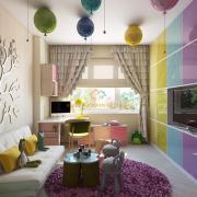 Яркие цвета в интерьере детской