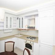 Белая кухня натуральное дерево