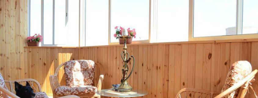 обшивка балконов на фото