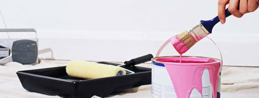 ремонт квартир кисть краска и валик