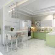 Белая гостиная студио